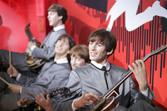 The beatles wax figure, adobe rgb. The beatles band wax figures in madame tussauds , hong kong Royalty Free Stock Photos