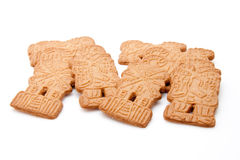 Four pieces of almond-biscuit Stock Photos