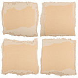 Four pieces of brown cardboard Royalty Free Stock Photo