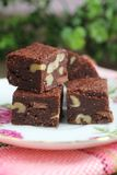 Brownies square Stock Images