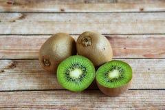 Four pieces of kiwi fruit Stock Photography
