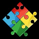 Four Pieces of Puzzle Royalty Free Stock Images