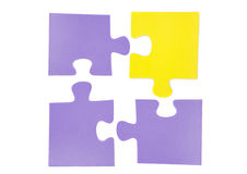 Four pieces of puzzle stock photo