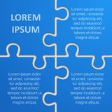 Four Pieces Puzzle Infographic 4 Step Puzzle. Royalty Free Stock Photos