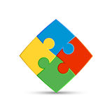 Four pieces of the puzzle Royalty Free Stock Photos
