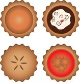 Four Pies Royalty Free Stock Photos
