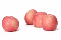 Four pink apples Royalty Free Stock Photo