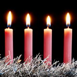 Four pink candles Royalty Free Stock Photo