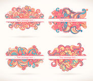 Four pink frames stock illustration