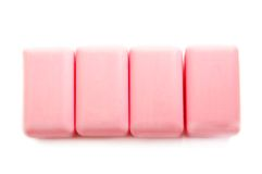 Four pink soap bars Stock Photo