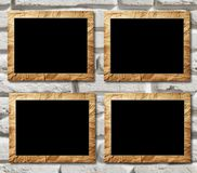 Four placards of black in decorative scopes Royalty Free Stock Photo