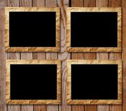 Four placards of black in decorative scopes Royalty Free Stock Image