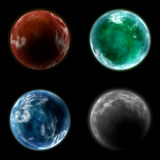 Four Planets Stock Photo