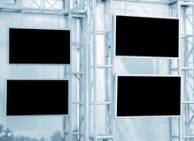 Four plasma panels Stock Images