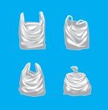 Four Plastic Bag Vector Illustration. Plastic Bag EPS10 File Format Royalty Free Stock Image