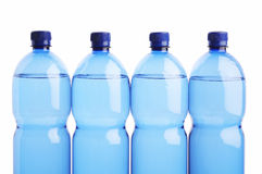 Four plastic botles Royalty Free Stock Image
