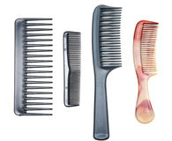 Four Plastic Combs Royalty Free Stock Photo