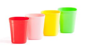 Four plastic cup Stock Image