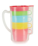 Four plastic cups in a jar Royalty Free Stock Photo