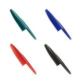Four plastic pen caps Stock Photography