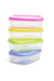 Four plastic storage containers Stock Images