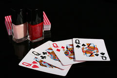 Four playing cards Royalty Free Stock Photography