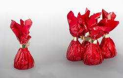 Four plus one red candies Stock Images