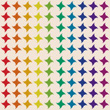 Four-pointed star colors of the rainbow. Seamless pattern Royalty Free Stock Photo