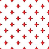 Four pointed star pattern, cartoon style Royalty Free Stock Photography