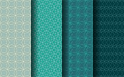 Four-pointed star style seamless pattern. Graphic design. EPS 10 vector Stock Illustration