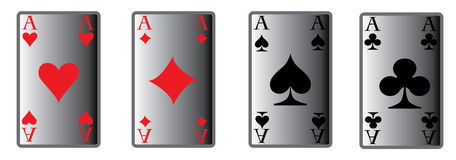 The four poker aces Stock Photography