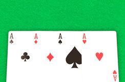Four Poker Aces Royalty Free Stock Image