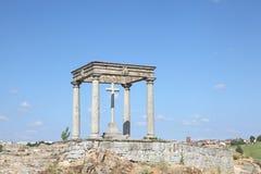 The four poles, Avila, Castile and Leon, Spain Stock Image