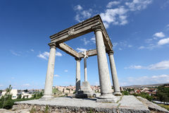 The four poles monument in Avila, Spain Royalty Free Stock Image