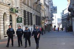 Four policemen Royalty Free Stock Photo