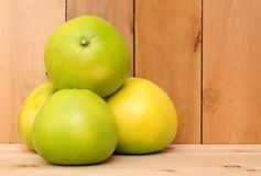 Four pomelo Royalty Free Stock Image