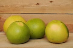 Four pomelo Stock Photography