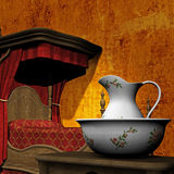 Four Poster Bedroom Illustration Stock Photos