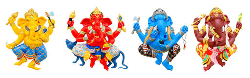 Four postures of Ganesha Royalty Free Stock Photos