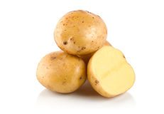 Four potatoes Royalty Free Stock Photo