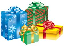 Four Presents Royalty Free Stock Images