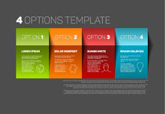 Four product service options template Royalty Free Stock Image