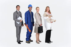 Four professionals Royalty Free Stock Photography