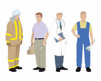 Four professionals man Royalty Free Stock Images