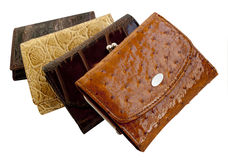 Four purse Stock Image