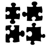 Four Puzzle Stock Photography