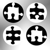 Four puzzle Stock Images