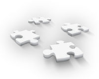 Four puzzle pieces Stock Images