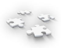Four puzzle pieces. Four beautiful 3d puzzle pieces Stock Images