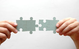 Four puzzle pieces Stock Image